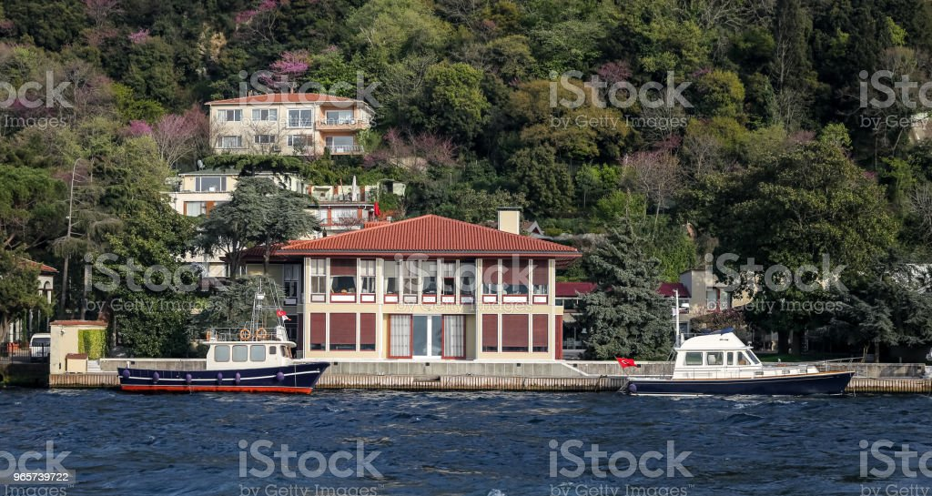 Buildings in Istanbul City, Turkey Buildings in Bosphorus Strait Side of Istanbul City, Turkey Architecture Stock Photo