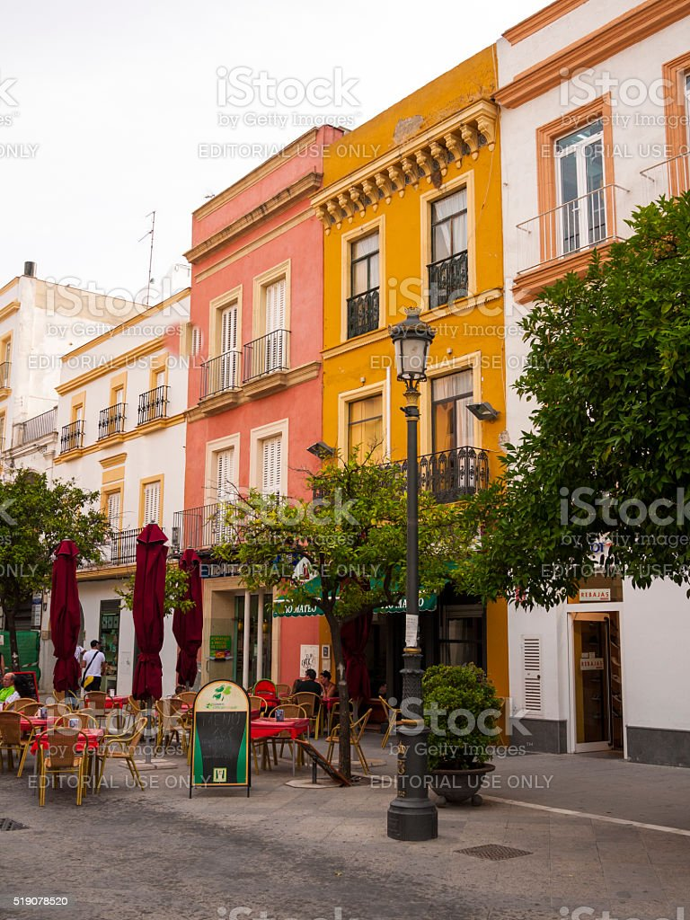 Buildings in Jerez, Spain stock photo