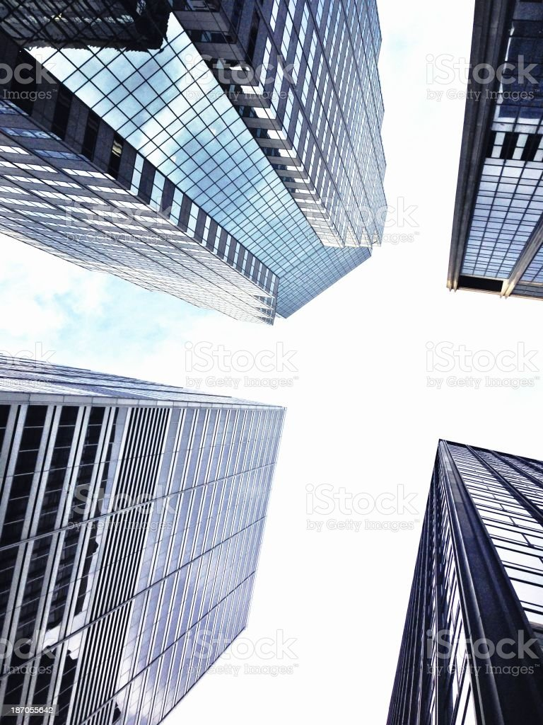 Buildings in New York City royalty-free stock photo