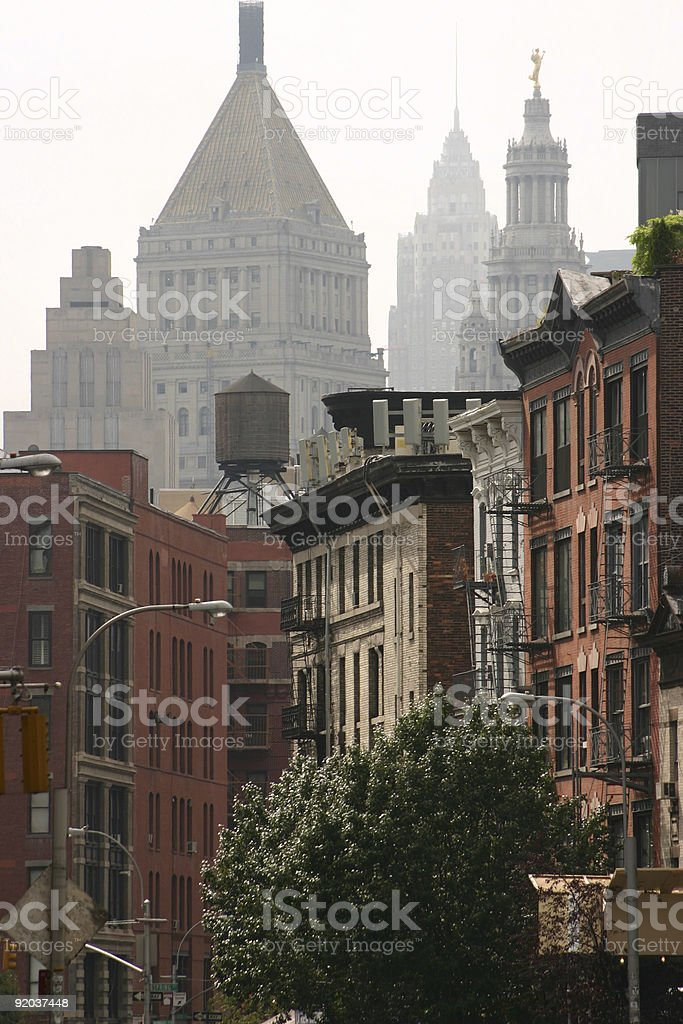 Buildings in New York royalty-free stock photo
