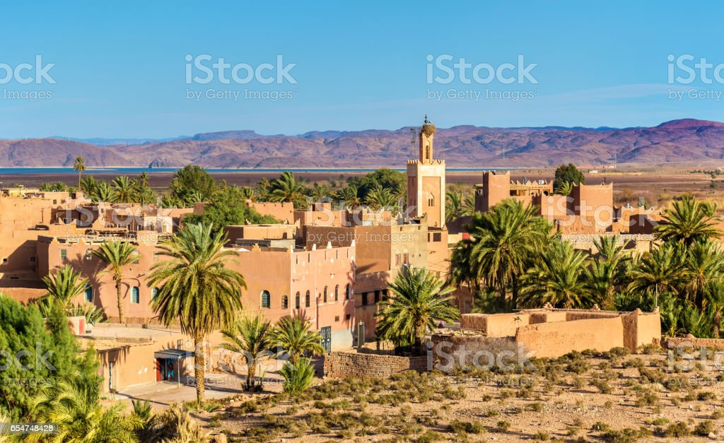 Buildings in Ouarzazate, a city in south-central Morocco stock photo