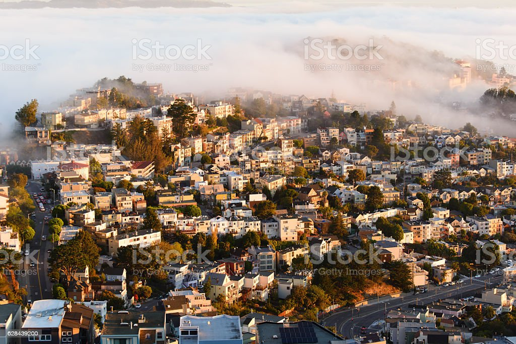 Buildings in San francisco stock photo