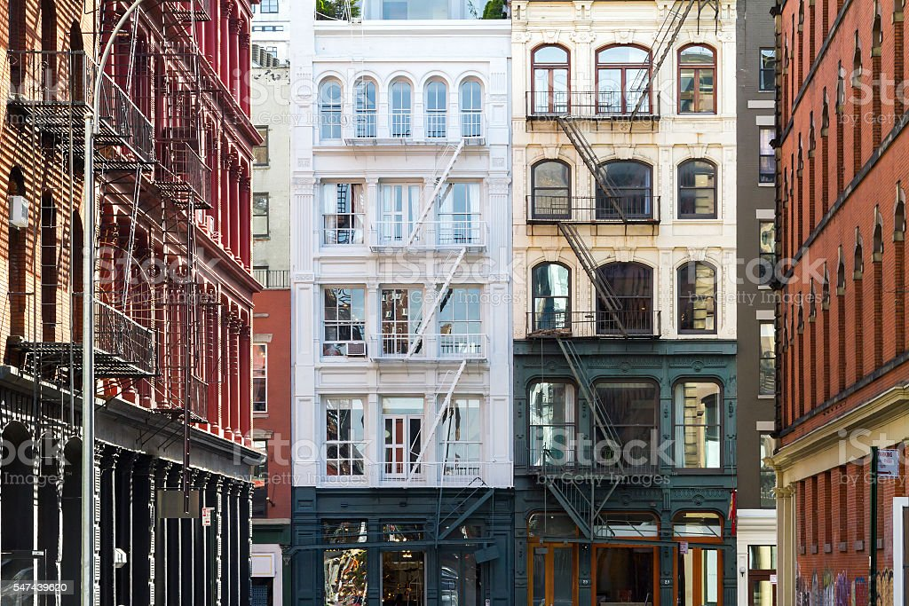 Buildings in Soho Manhattan, New York City stock photo