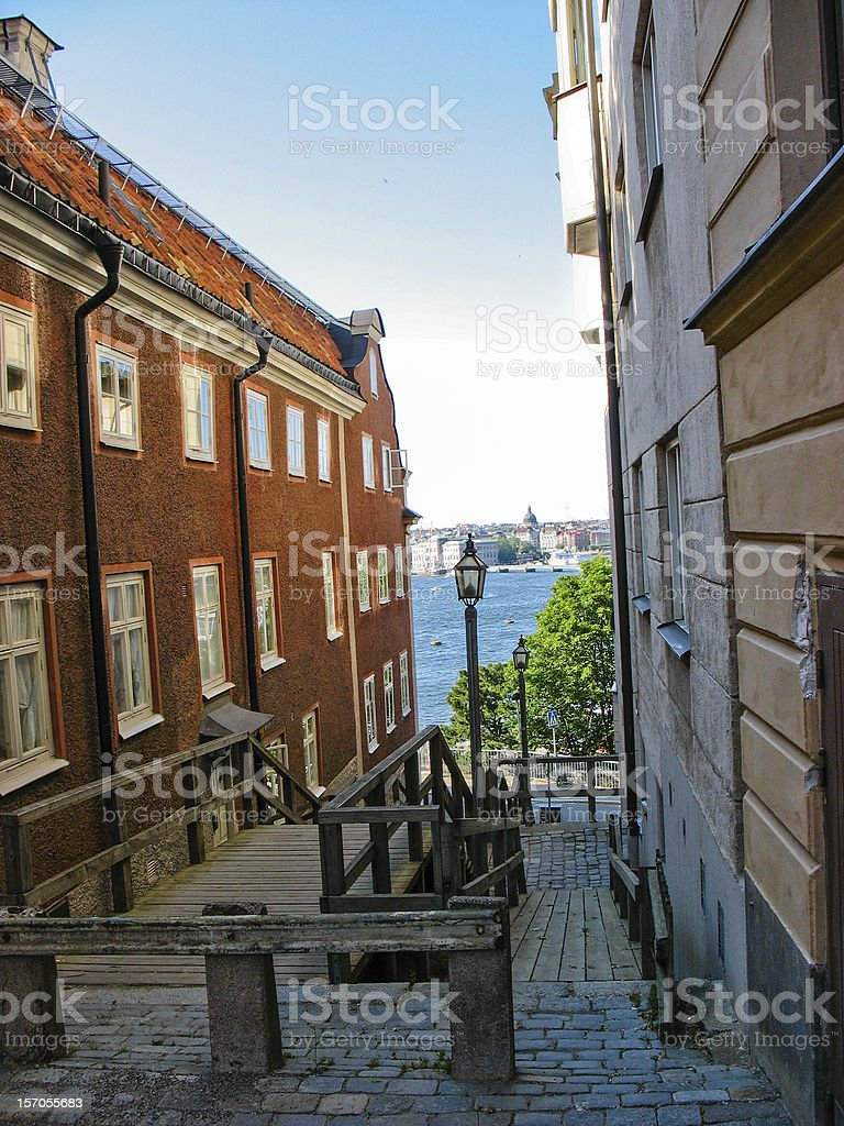 Buildings in Stockholm (Sweden) royalty-free stock photo