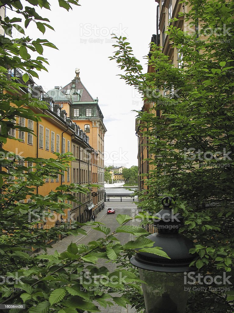 Buildings in Stockholm royalty-free stock photo