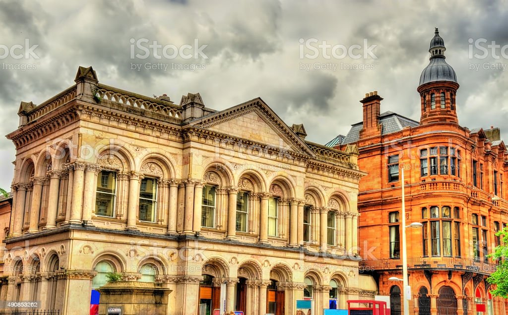 Buildings in the city centre of Belfast - Northern Ireland stock photo