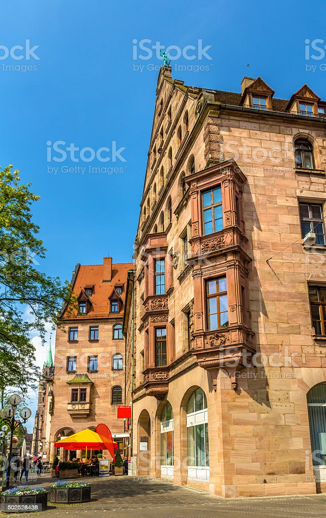 Buildings in the city centre of Nuremberg - Germany stock photo