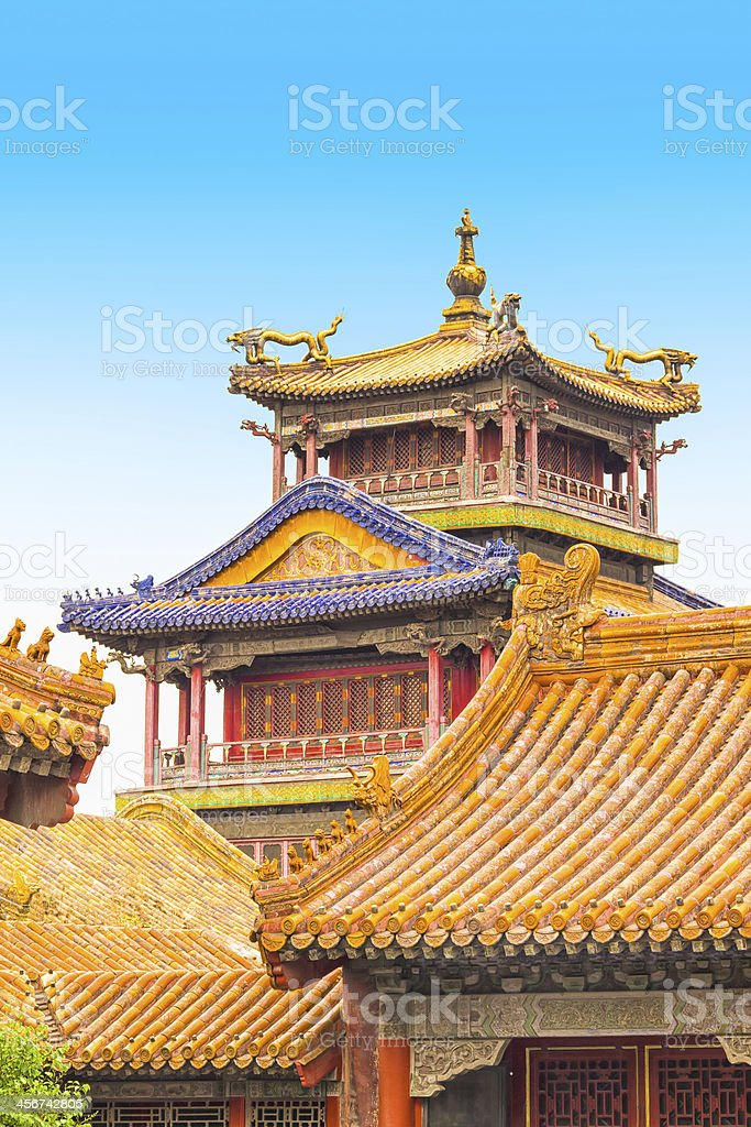 Buildings in the Forbidden City, Beijing, China stock photo