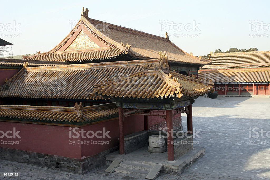 Buildings in the Forbidden City royalty-free stock photo