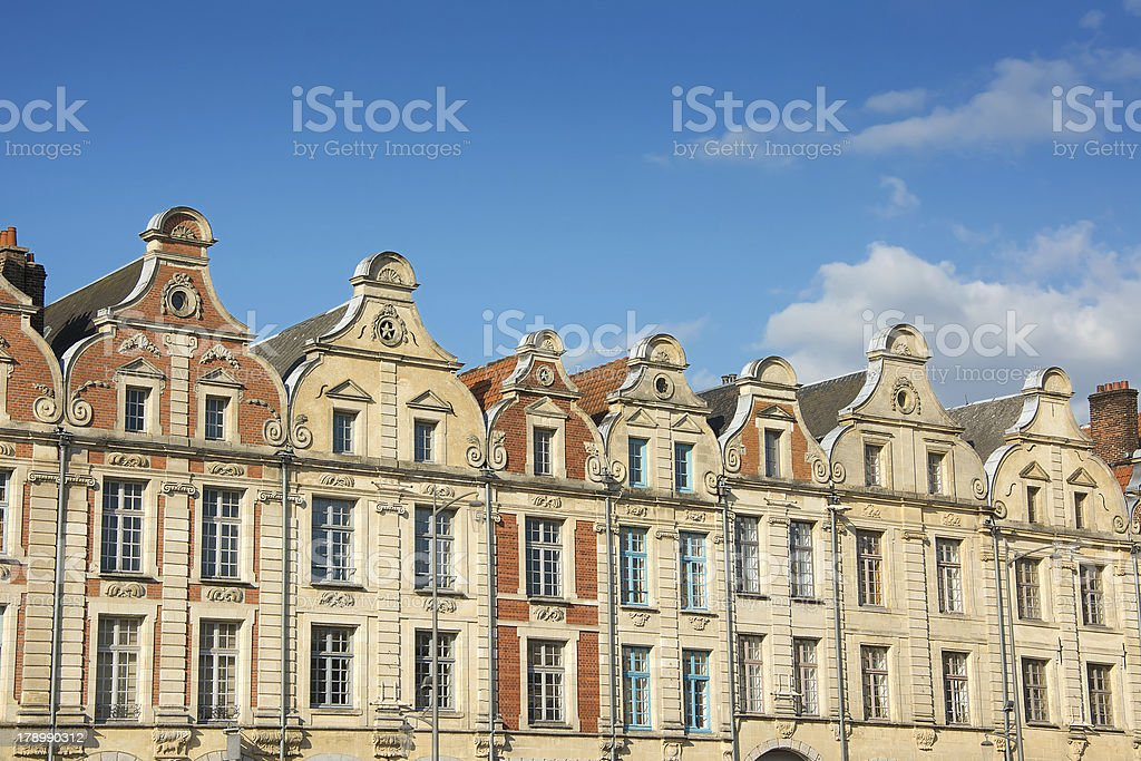 Buildings in The Grande Place Arras stock photo