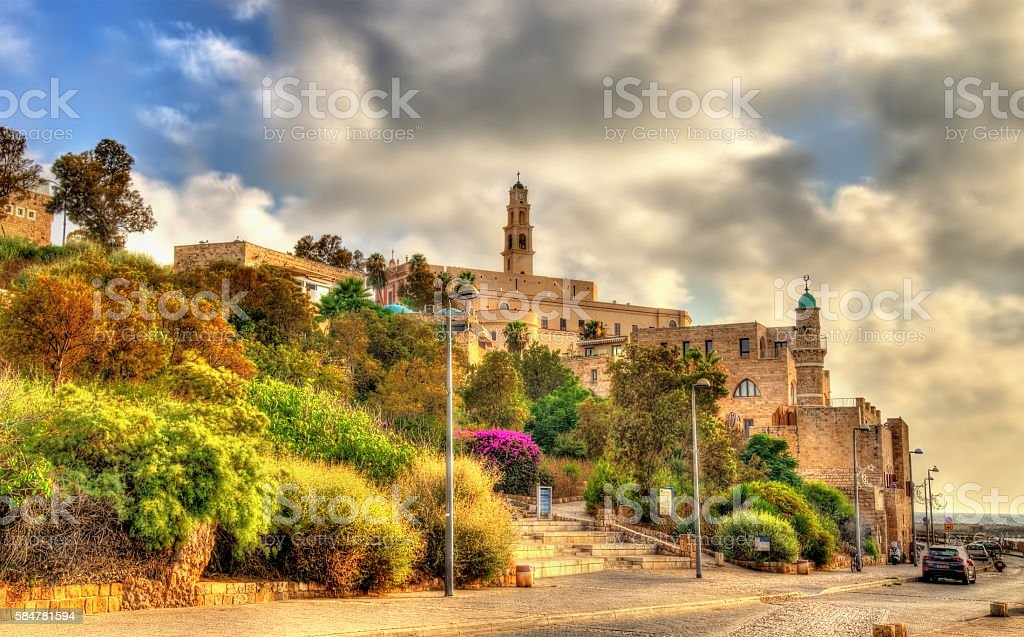 Buildings in the old city of Jaffa - Tel Aviv stock photo