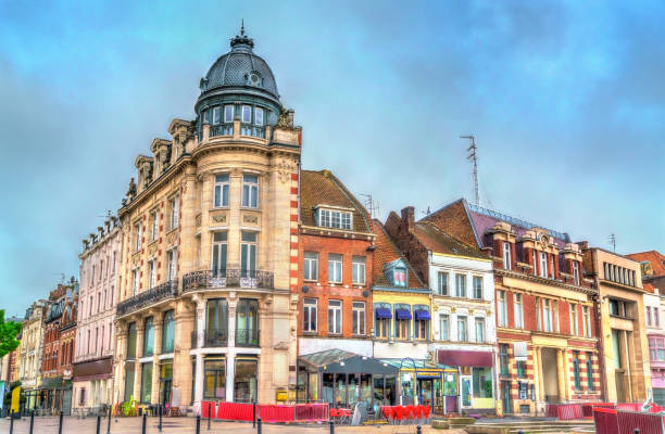 Buildings in Tourcoing, a town near Lille in Northern France Buildings in Tourcoing, a town near Lille in the Nord Department of France hauts de france stock pictures, royalty-free photos & images