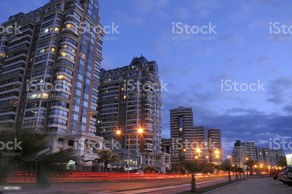 Buildings in Vina del Mar royalty-free stock photo