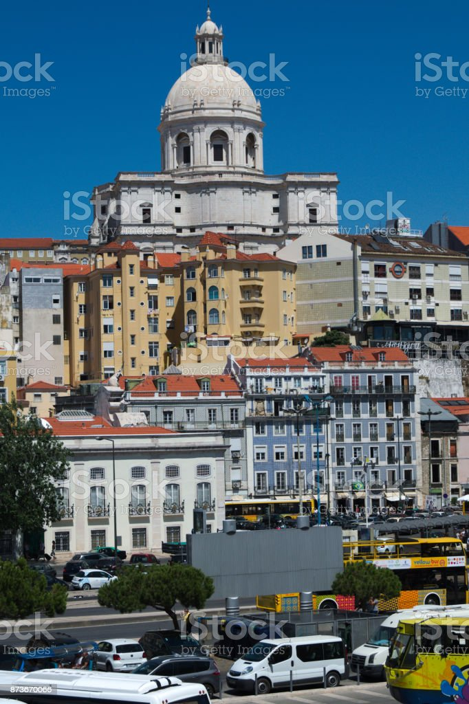 Buildings  Lisbon town stock photo