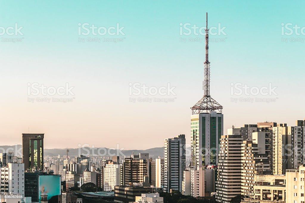 Buildings near Paulista Avenue, in Sao Paulo, Brazil (Brasil) stock photo