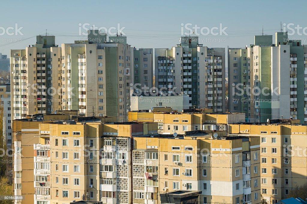 Buildings of Chisinau, Moldova stock photo