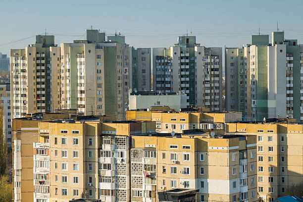 buildings of chisinau, moldova - moldova stock pictures, royalty-free photos & images