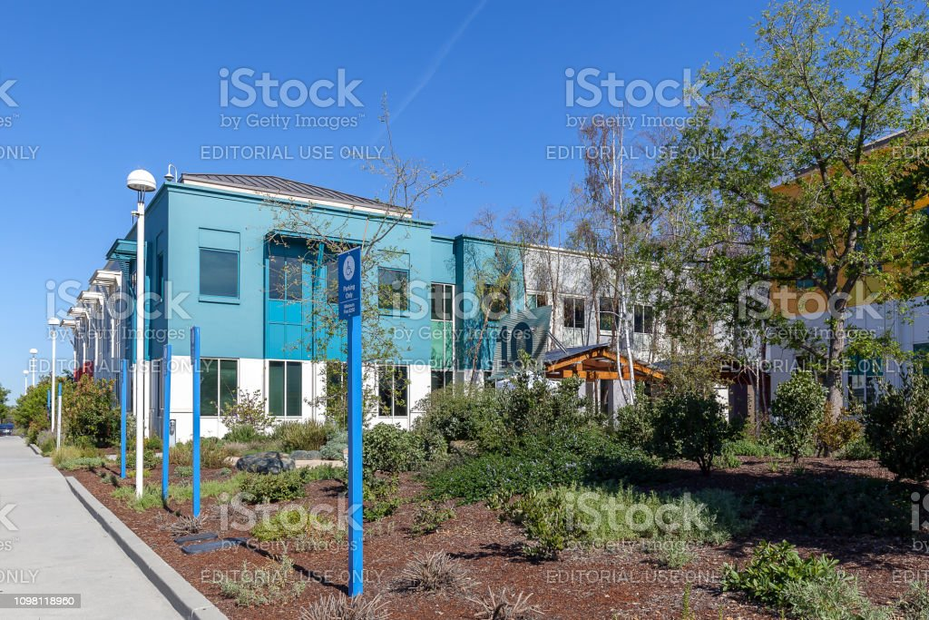 Buildings Of Facebook Headquarters In Silicon Valley