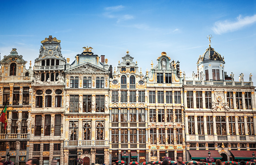 Buildings of Grand Place (Grote Markt), Brussels, Belgium