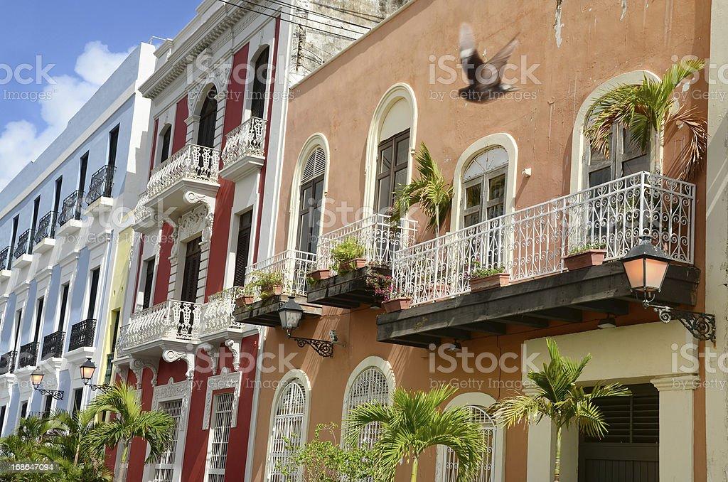 Buildings of Old San Juan stock photo