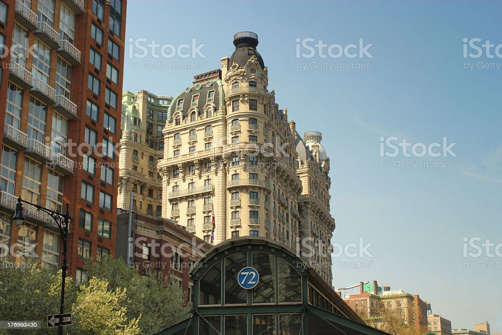 Buildings on 72nd St., NY stock photo