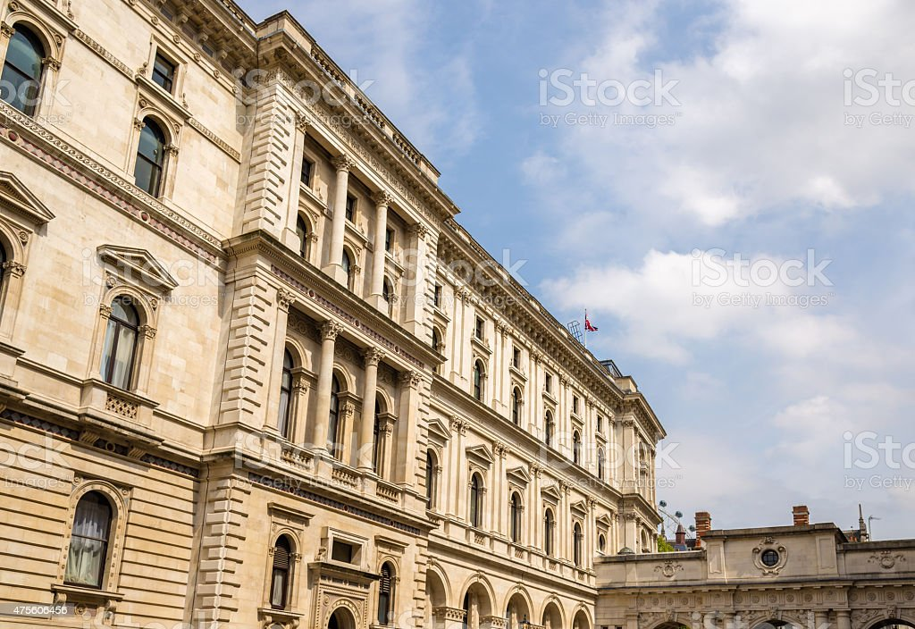Buildings on Downing street in London, England stock photo