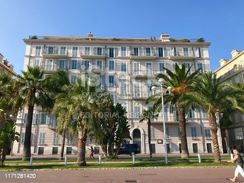 istock Buildings on Promenade des Anglais in Nice France daytime 1171281420