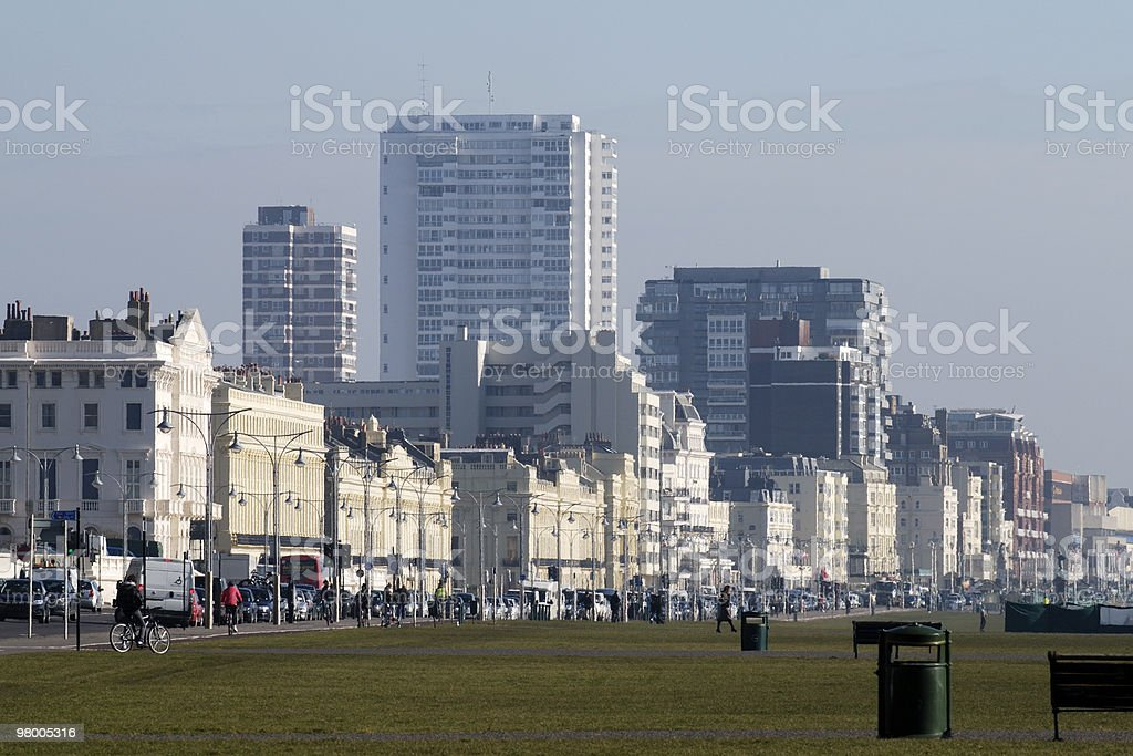 Buildings on seafront at Brighton. England royalty-free stock photo
