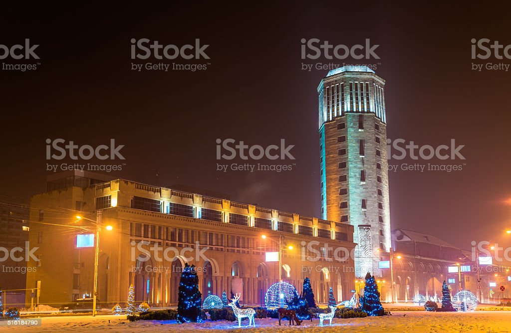 Buildings on Square of Russia in Yerevan stock photo