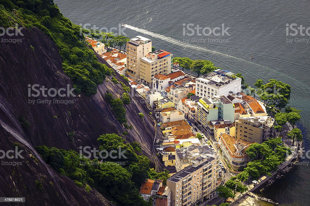 Buildings on the coast royalty-free stock photo