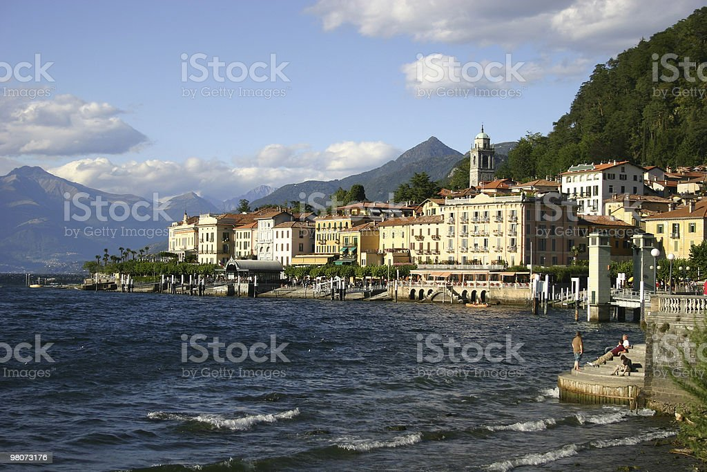 Buildings on the shore of Lake Como royalty-free stock photo