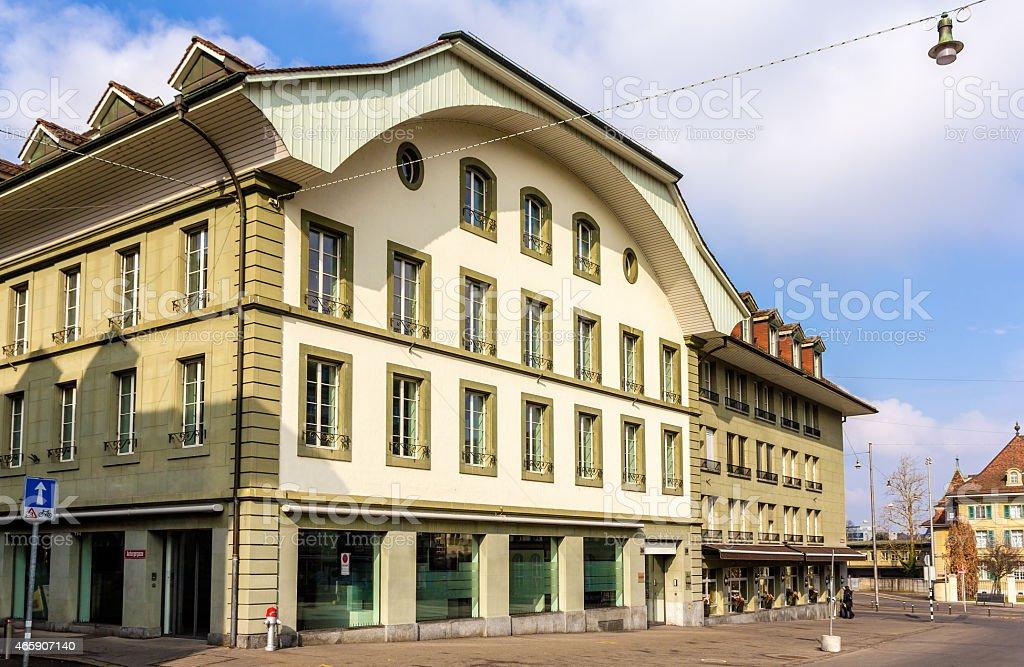 Buildings on Waisenhausplatz in Bern - Switzerland stock photo