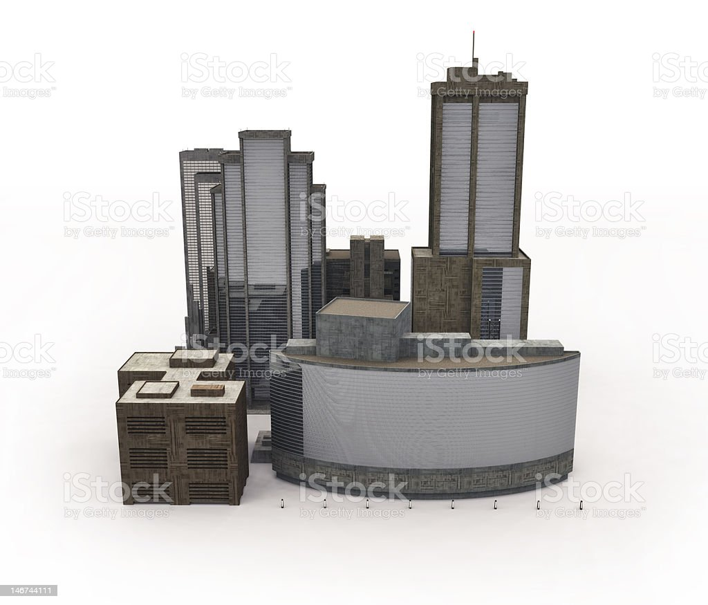 buildings on white royalty-free stock photo