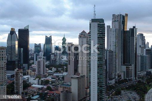 Vista aérea de los edificios de la ciudad de Panamá