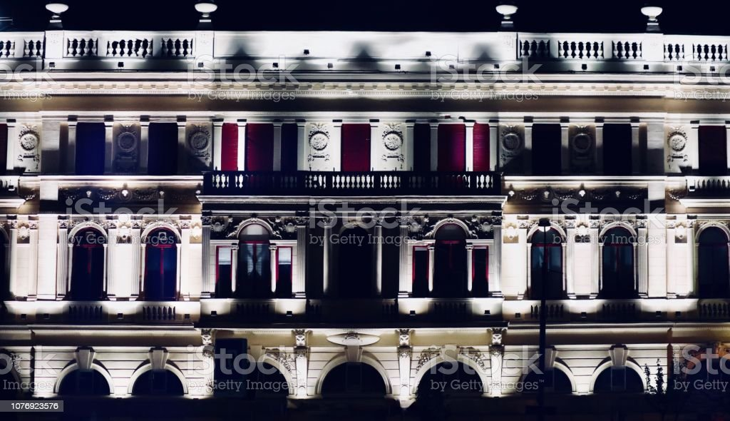 Bâtiments par le biais de la nuit - Photo
