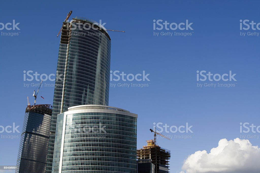Buildings under construction royalty free stockfoto