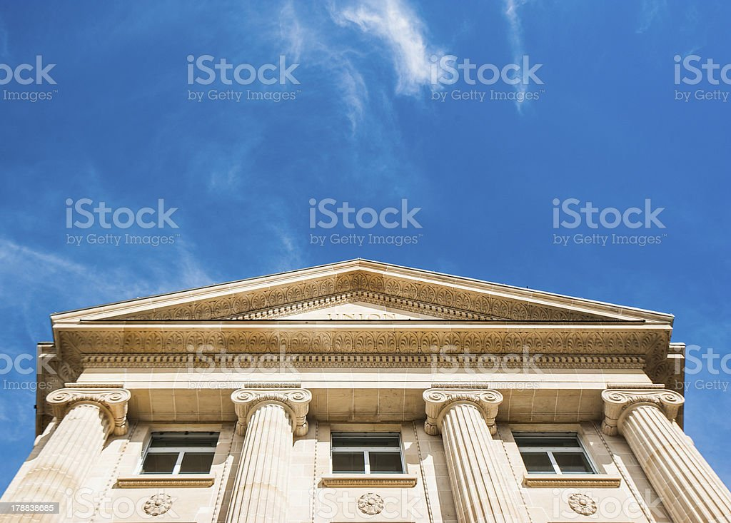 Buillding with ironic style royalty-free stock photo