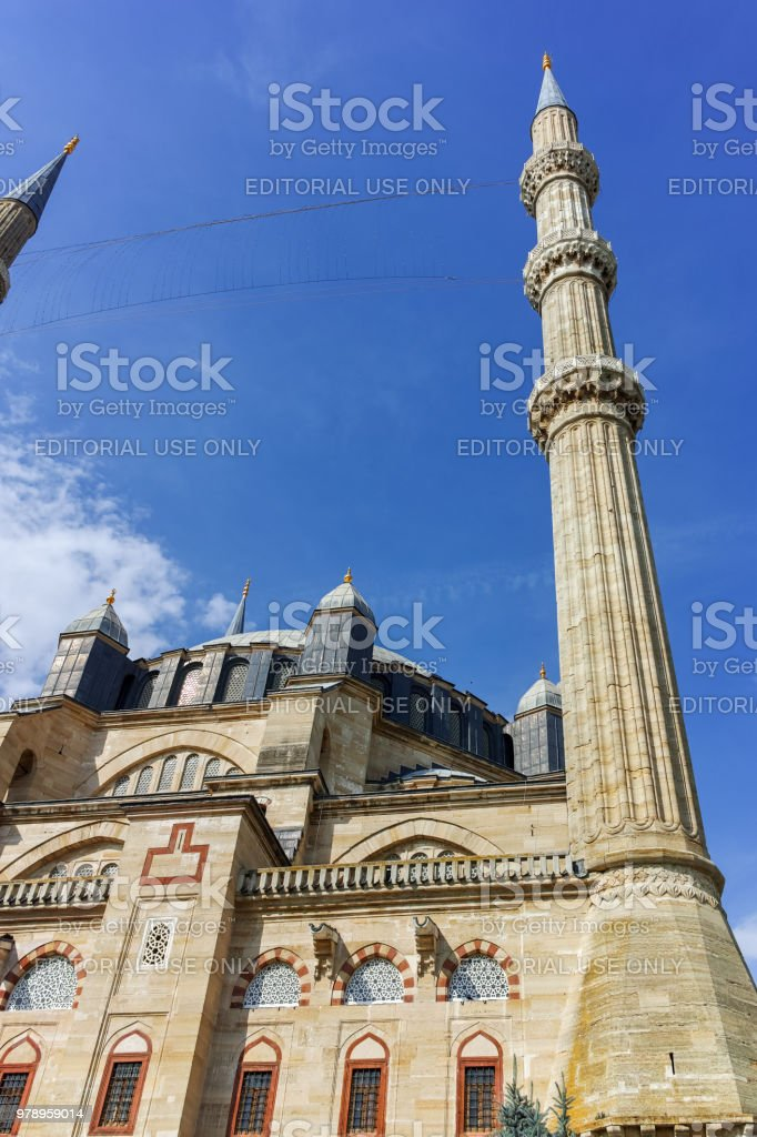 Built by architect Mimar Sinan between 1569 and 1575 Selimiye Mosque in city of Edirne,  East Thrace, Turkey stock photo