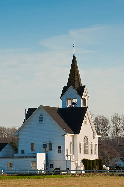 historische fir conway lutheran church - jeff wood stock-fotos und bilder