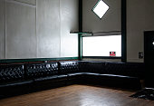 Built in padded Seating, Window and Door at a Meeting Hall