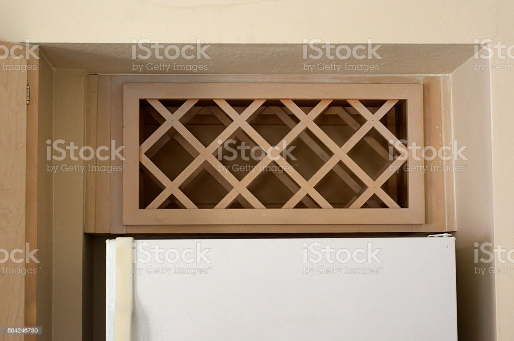 built in wine rack stock photo