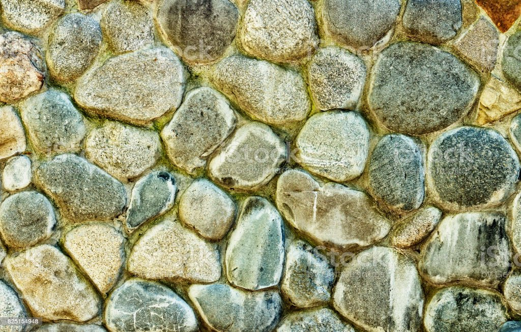 Built of natural stone textured wall stock photo