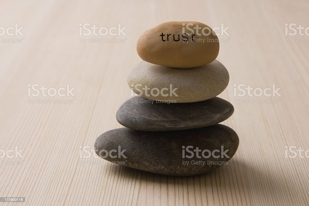 Built on trust royalty-free stock photo