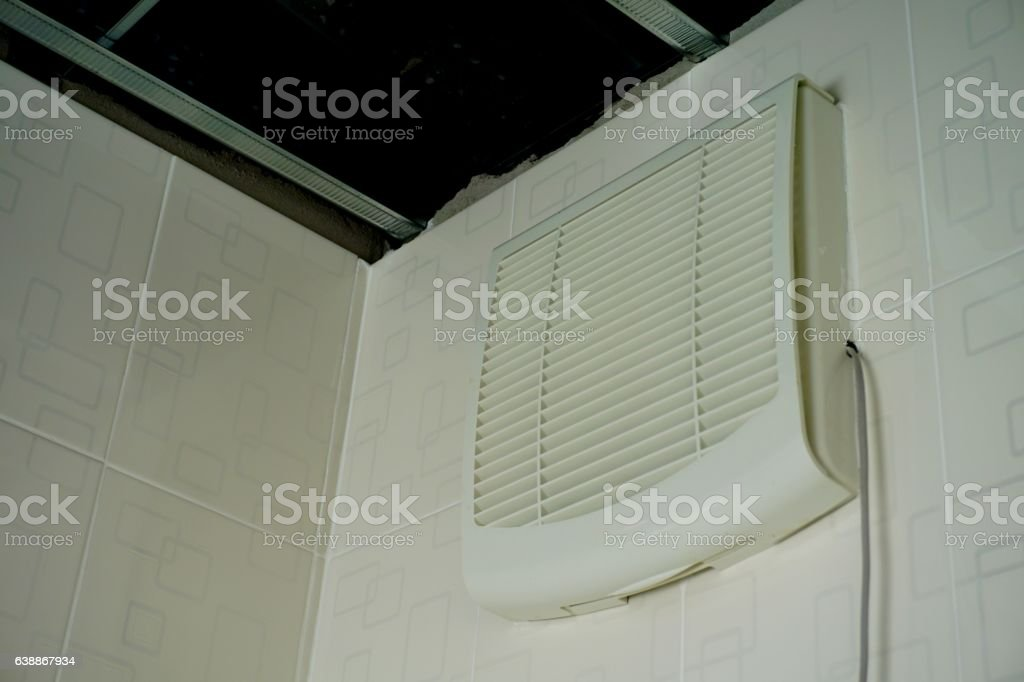 Built-in exhaust fan stock photo