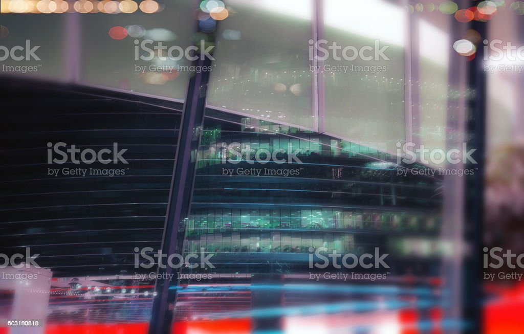 Buisiness  window Reflection. stock photo