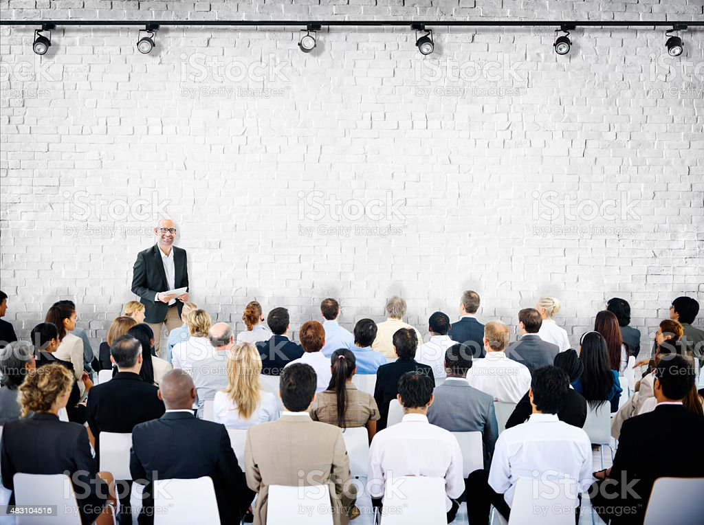 Buisness People Meeting Seminar Conference Audience Team Concept stock photo