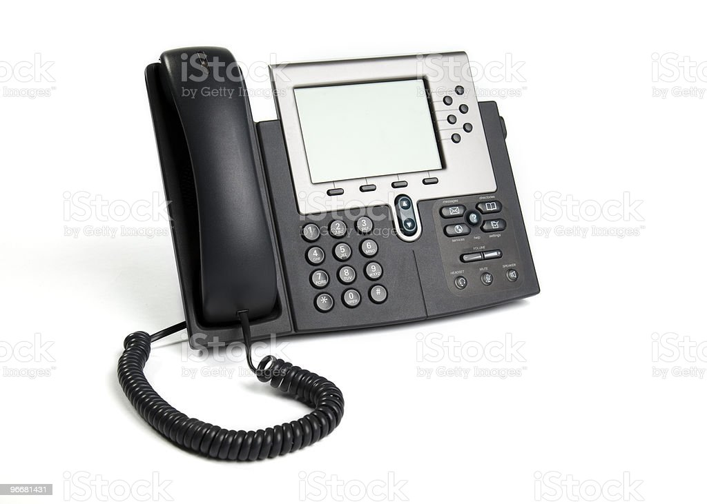 Buisness VoIP Phone Isolated on White royalty-free stock photo