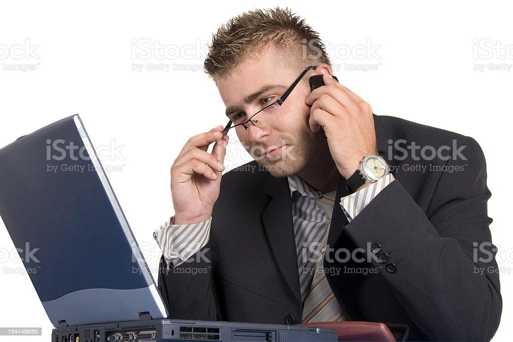 Buisnessman at work royalty-free stock photo