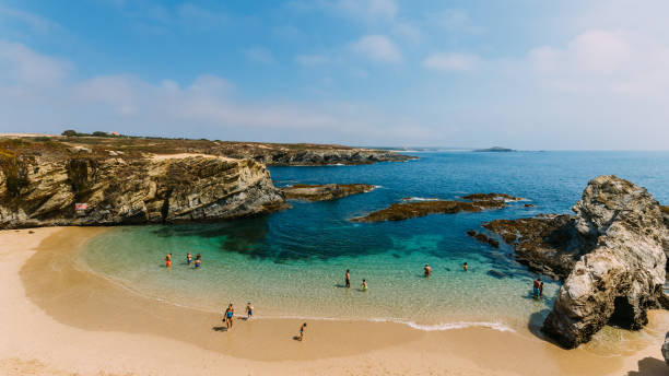 Buizinhos beach beach, in Porto Covo, Alentejo, Portugal stock photo
