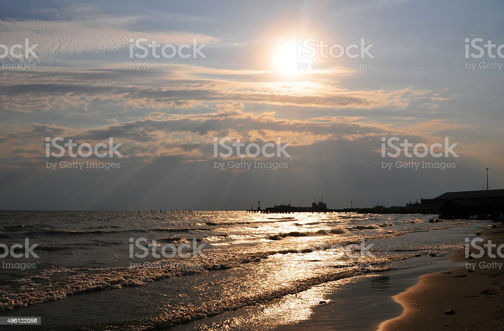 Bujumbura beach - Burundi stock photo
